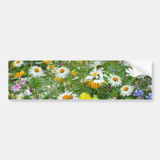 Beautiful Wildflower and Butterfly Meadow Bumper Sticker