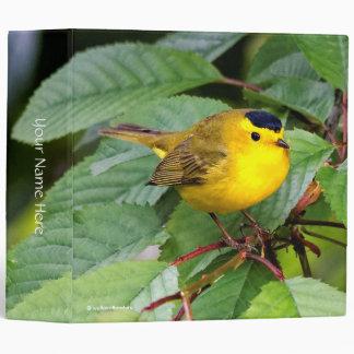 Beautiful Wilson's Warbler in the Cherry Tree Binder