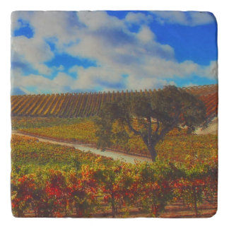 Beautiful Wine Country Art Trivet