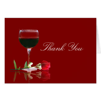 Beautiful Wine Country Thank You Card