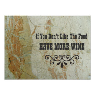 Beautiful Wine Poster! Poster