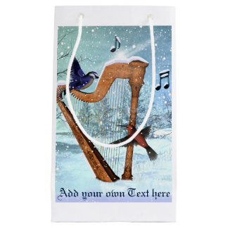 Beautiful winter harp gift bag