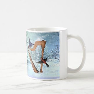 Beautiful winter harp mug