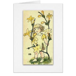 Beautiful Winter Jasmine by NELLIE BENSON Greeting Card