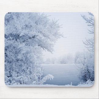Beautiful winter landscape mouse pad