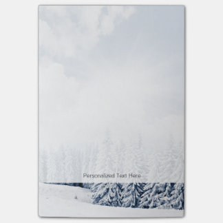 Beautiful Winter Landscape With Snow Post-it® Notes