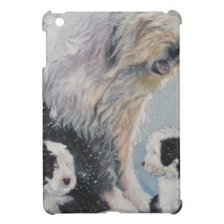 Beautiful winter Old English SheepDog Painting iPad Mini Case