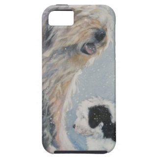 Beautiful winter Old English SheepDog Painting iPhone 5 Covers