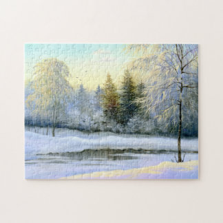 Beautiful Winter Painting Puzzle