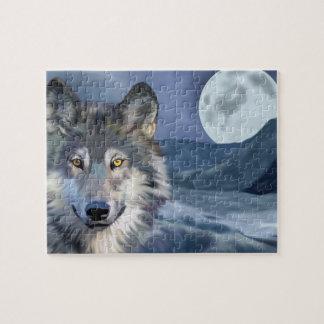 Beautiful Winter Scene Wolf Jigsaw Puzzle