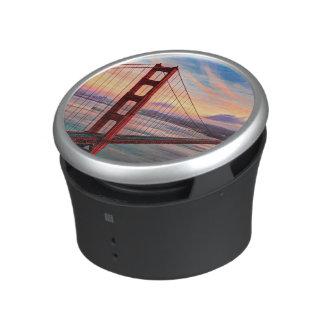 Beautiful winter sunset at Golden Gate Bridge Bluetooth Speaker