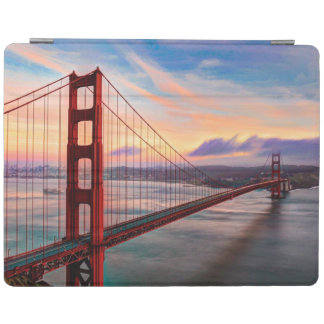 Beautiful winter sunset at Golden Gate Bridge iPad Cover