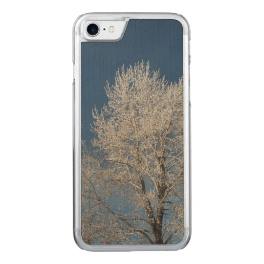 Beautiful winter trees carved iPhone 7 case