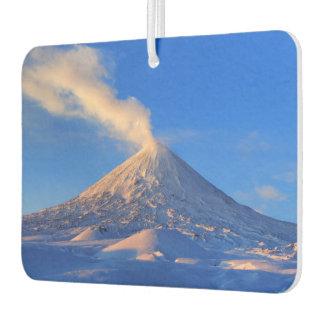 Beautiful winter volcanic landscape car air freshener