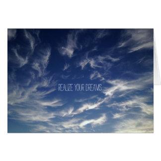 Beautiful Wispy Clouds with Blue Sky Card