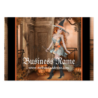 Beautiful Witch 1  Fantasy Business Cards