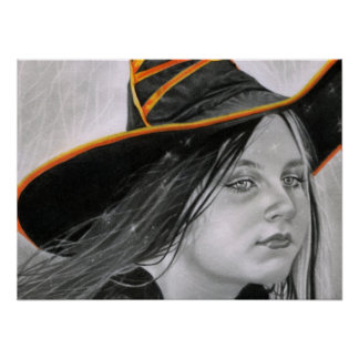 Beautiful Witch Halloween Poster