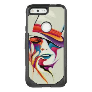 Beautiful woman art OtterBox commuter google pixel case