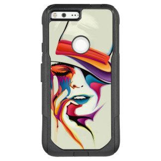 Beautiful woman art OtterBox commuter google pixel XL case