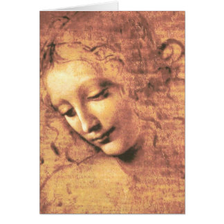 Beautiful Woman by Leonardo da Vinci Card