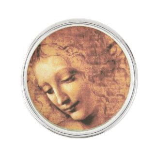 Beautiful Woman by Leonardo da Vinci Lapel Pin