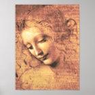 Beautiful Woman by Leonardo da Vinci Poster