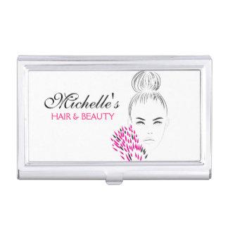 Beautiful woman fashion illustration branding business card case
