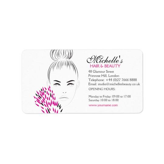 Beautiful woman fashion illustration branding label