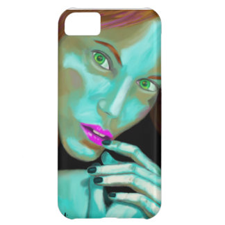 Beautiful Woman's Portrait in Fluorescent Colors iPhone 5C Cover