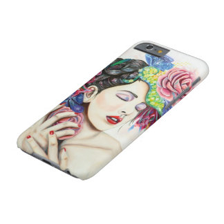 Beautiful women with flowers iPhone 6 case