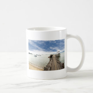 beautiful wooden pier in Thailand Coffee Mug