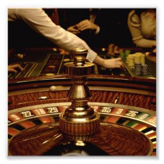 Beautiful Wooden Roulette Wheel Photo