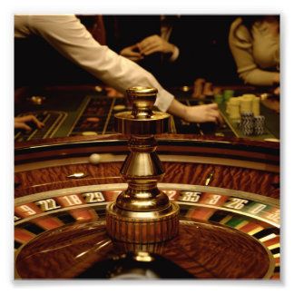 Beautiful Wooden Roulette Wheel Photo