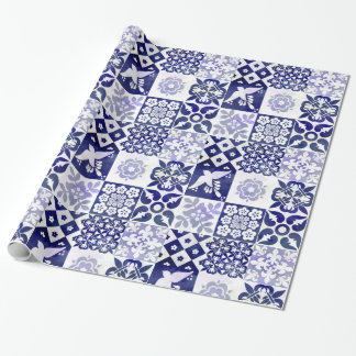 Beautiful wrapping paper with Azulejos pattern