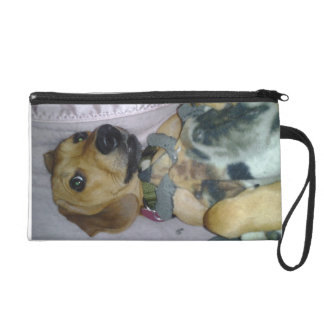 Beautiful Wristlet Purse with a playful pooch