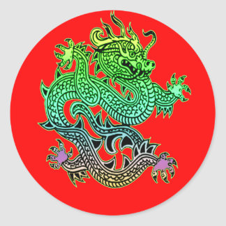 Beautiful Year of the Dragon Gifts Classic Round Sticker