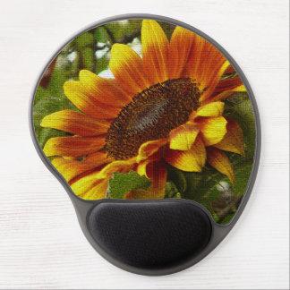 Beautiful Yellow and Orange Sunflower Mousepad Gel Mouse Pad