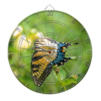 Beautiful Yellow Butterfly Dart Board