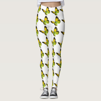 BEAUTIFUL YELLOW BUTTERFLY LEGGINGS