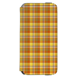 Beautiful yellow checkered Pattern Incipio Watson™ iPhone 6 Wallet Case