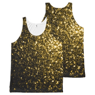 Beautiful Yellow Gold sparkles All-Over-Print Tank Top