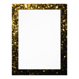 Beautiful Yellow Gold sparkles Customized Letterhead