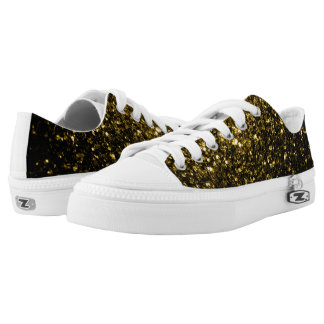 Beautiful Yellow Gold sparkles Low-Top Sneakers