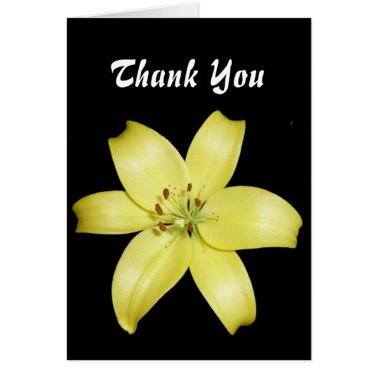 Beautiful Yellow Lily Card