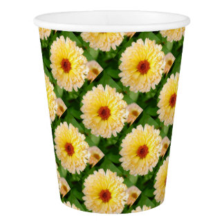 Beautiful Yellow Marigold Paper Cup