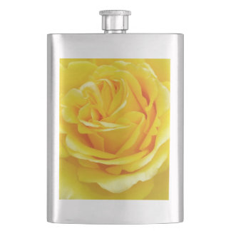 Beautiful Yellow Rose Closeup Hip Flask