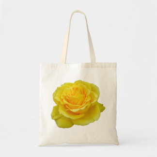 Beautiful Yellow Rose Closeup Isolated Tote Bag