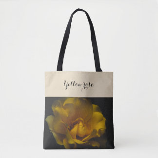 Beautiful yellow rose tote bag