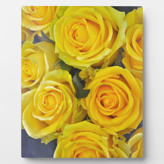 Beautiful yellow roses plaque