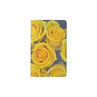 Beautiful yellow roses pocket moleskine notebook